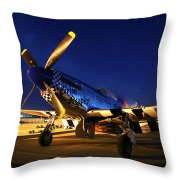 Grim Reaper At Hollister Air Show Throw Pillow