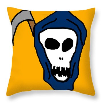 Grim Reaper Throw Pillow by Jera Sky