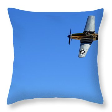 Grim Reaper.  P51d.  Not Just Your Father's Show Plane Throw Pillow