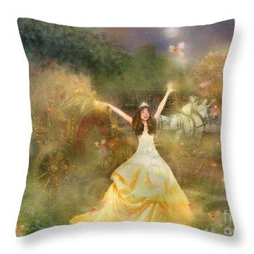 Grimms Fairie Cinderella  Throw Pillow by Carrie Jackson