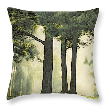 Throw Pillow featuring the photograph Grimm's Forest  by Beauty For God