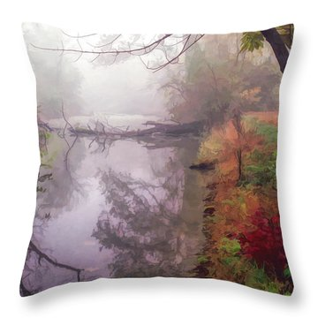 Grings Mill Fog 015 Throw Pillow