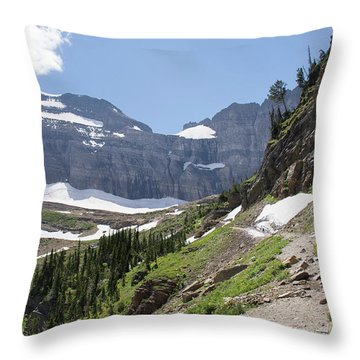 Grinnell Glacier Trail - Glacier National Park Throw Pillow