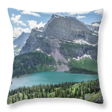 Grinnell Lake From Afar Throw Pillow