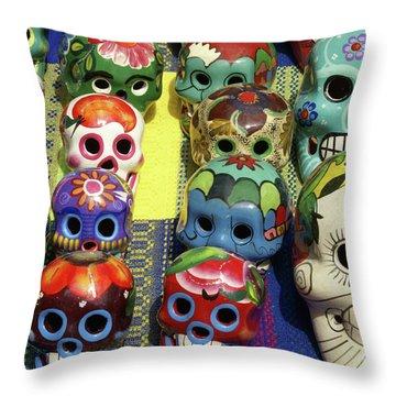 Grinning Skulls Throw Pillow