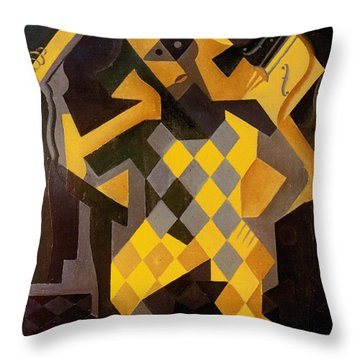 Gris: Harlequin Throw Pillow by Granger