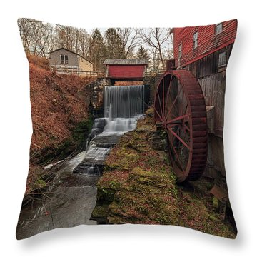 Grist Mill II Throw Pillow