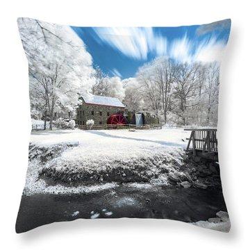 Grist Mill In Halespectrum Throw Pillow