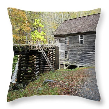 Grist Mill Throw Pillow by Lamarre Labadie