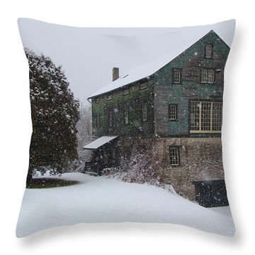 Grist Mill Of Port Hope Throw Pillow by Davandra Cribbie