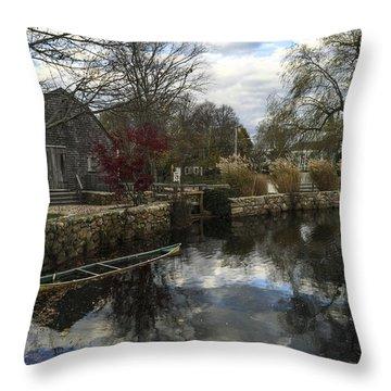 Grist Mill Sandwich Massachusetts Throw Pillow