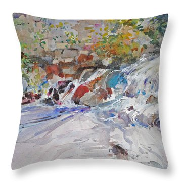 Grist Mill Spill Way Throw Pillow
