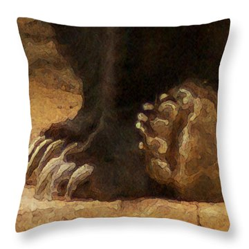 Grizzly Paws Throw Pillow