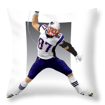 Gronk Throw Pillow