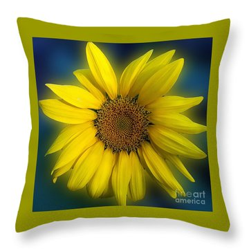 Groovy Sunflower Throw Pillow