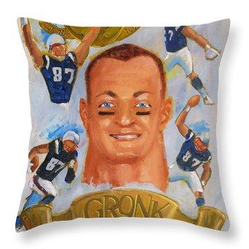 Gronk Throw Pillow by Len Stomski
