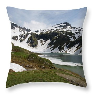 Throw Pillow featuring the photograph Grossglockner High Alpine Road by Christian Zesewitz