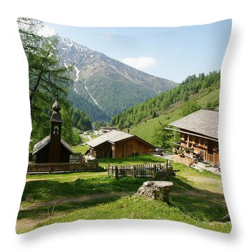 Grossglockner Road Throw Pillow