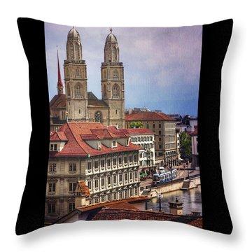 Grossmunster In Zurich Throw Pillow