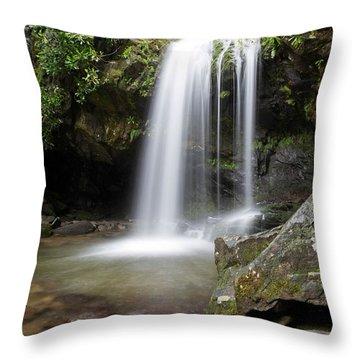 Grotto Falls Vertical Throw Pillow
