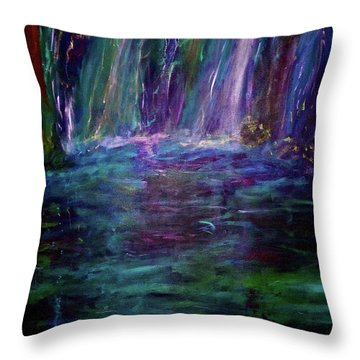 Throw Pillow featuring the painting Grotto by Heidi Scott