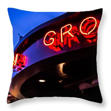Grotto - Night View Throw Pillow