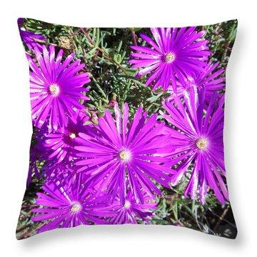 Ground Blooms 1 Throw Pillow
