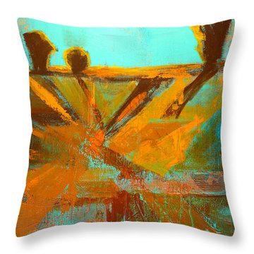 Ground Elements Throw Pillow
