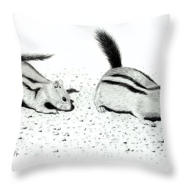 Ground Squirrels Throw Pillow