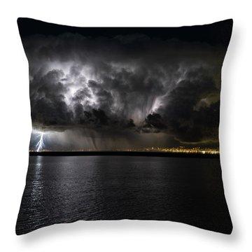 Ground Strike Throw Pillow by Justin Johnson