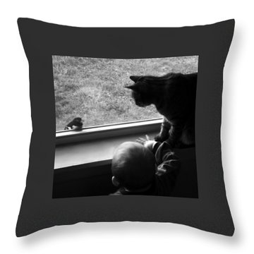 Group Chat Throw Pillow