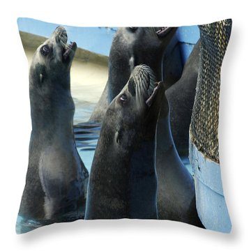 Group Lunch Throw Pillow