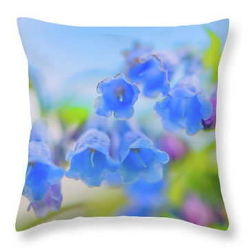 Group Of Idaho Bluebells Throw Pillow