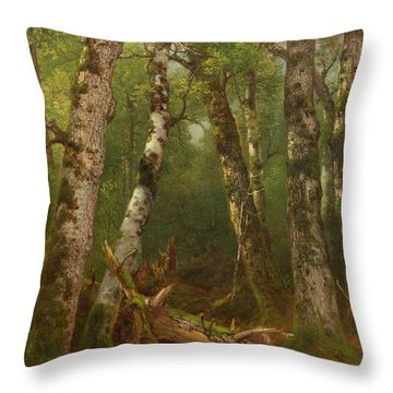 Group Of Trees Throw Pillow by Asher Brown Durand