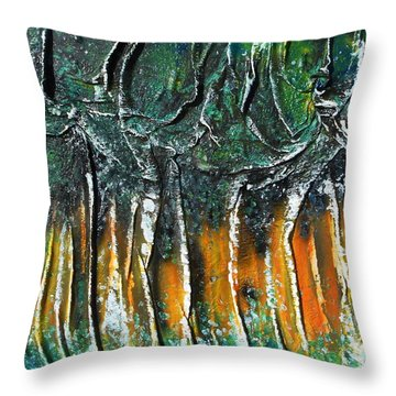 Grove Of Birch Throw Pillow by Angela Stout
