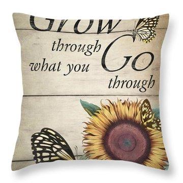 Throw Pillow featuring the digital art Grow by Robin-Lee Vieira
