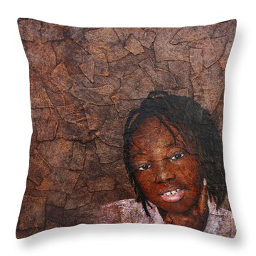 Growing Dreads Throw Pillow