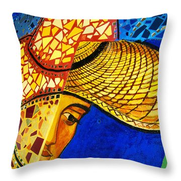 Growing Edgewater Mosaic Throw Pillow