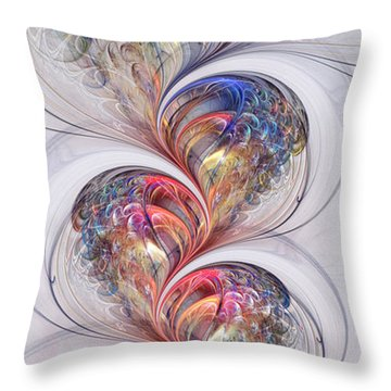 Growing Glass Throw Pillow by Kim Redd