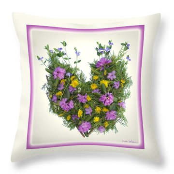 Throw Pillow featuring the digital art Growing Heart by Lise Winne