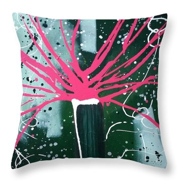 Growing In The City Throw Pillow by Pearlie Taylor