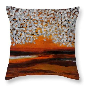 Summer Blooms-x Throw Pillow
