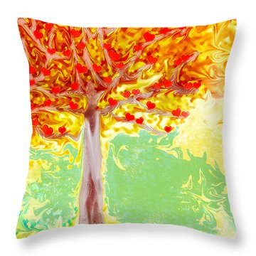 Growing Love Throw Pillow by Claudia Ellis