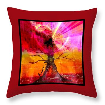 Growing Love Throw Pillow by Fania Simon