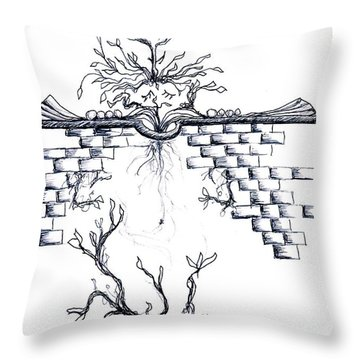 Growing Nowhere Throw Pillow