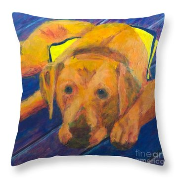 Growing Puppy Throw Pillow