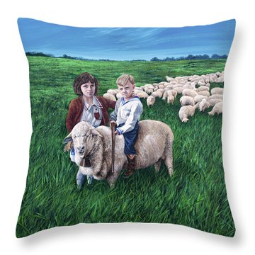 Growing Up Basque Throw Pillow