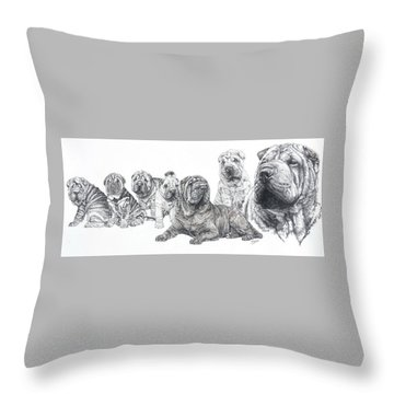 Growing Up Chinese Shar-pei Throw Pillow
