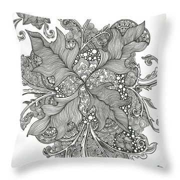 Growing Vines Throw Pillow