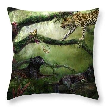 Growing Wild Throw Pillow by Carol Cavalaris